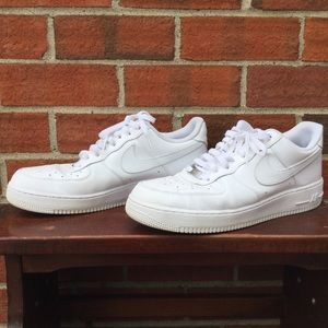 Men's White Nike Air Force 1 Sneakers Shoes